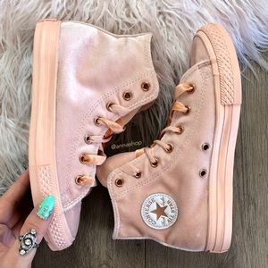 33fb8b7c1b8bf1 Converse Shoes - NWT🍑converse ID peach rose gold high tops